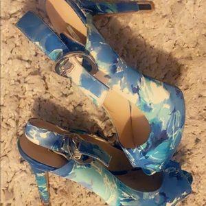 Multi blue shoes